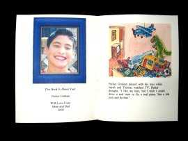 Image of Child's framed picture in book