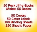 50 Pack of Jiff-e-Books (with paper) - Product Image